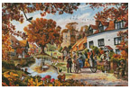 A Village in Autumn - Cross Stitch Chart