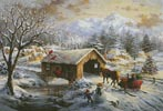 Covered Bridge in Winter - Cross Stitch Chart