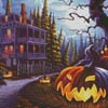 Jack-o-Lantern Lane (Crop 2) - Cross Stitch Chart