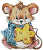 Mouse with Cheese 2 - Cross Stitch Chart