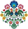 Polish Folk Design with Roosters - Cross Stitch Chart