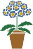 Primrose Pot - Cross Stitch Chart